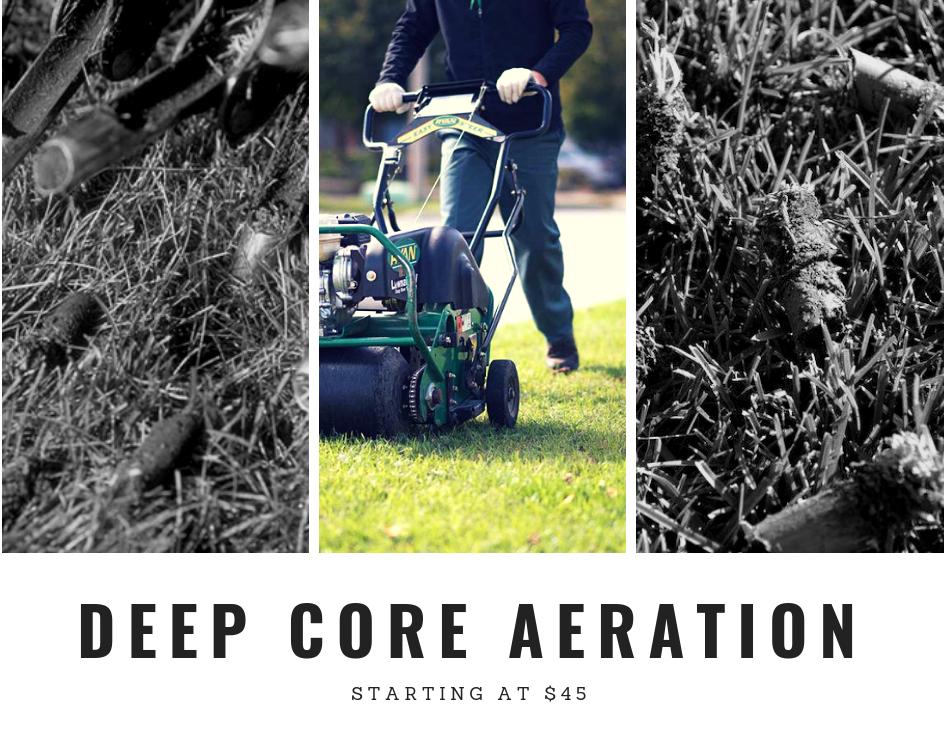 Deep Core Aeration